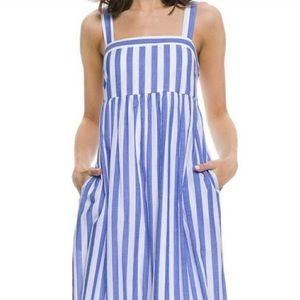English Factory Blue Stripe Maxi Dress NWOT